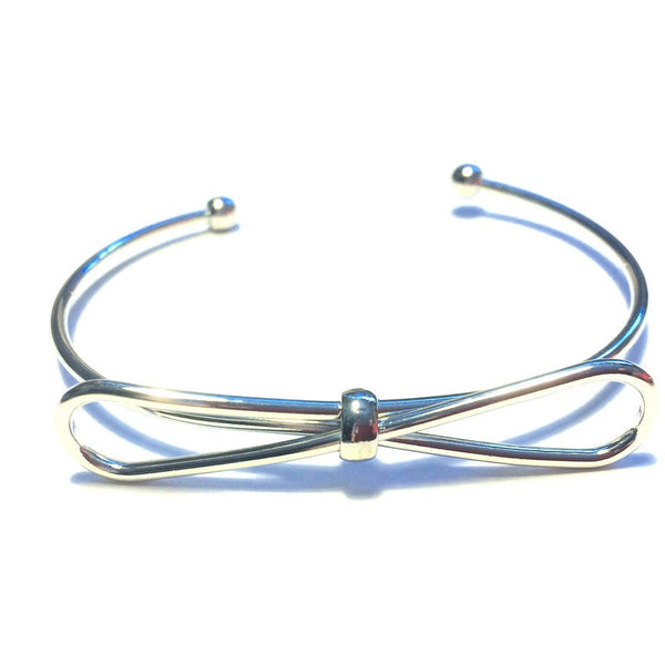 Ashley Bow Bracelet in Silver - Biology Boutique