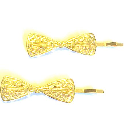 Ashton Gold Bow Hairpin Set - Biology Boutique