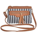 Black and White Striped Clutch