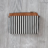 Black and White Striped Clutch - Biology Boutique