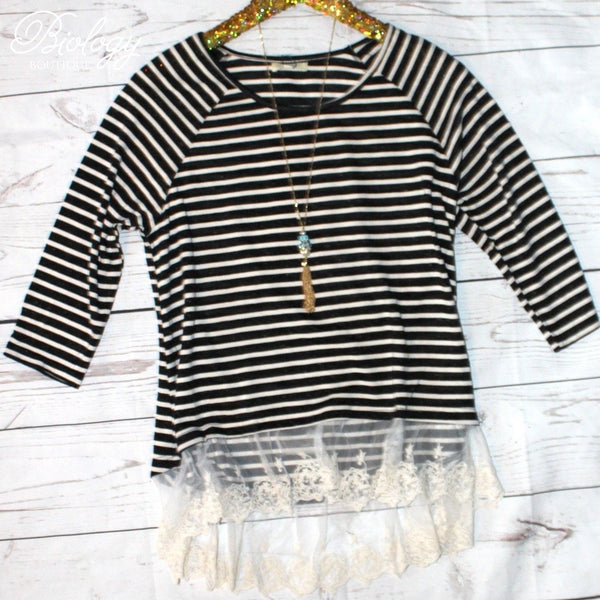 Kate Striped Top | Biology Boutique