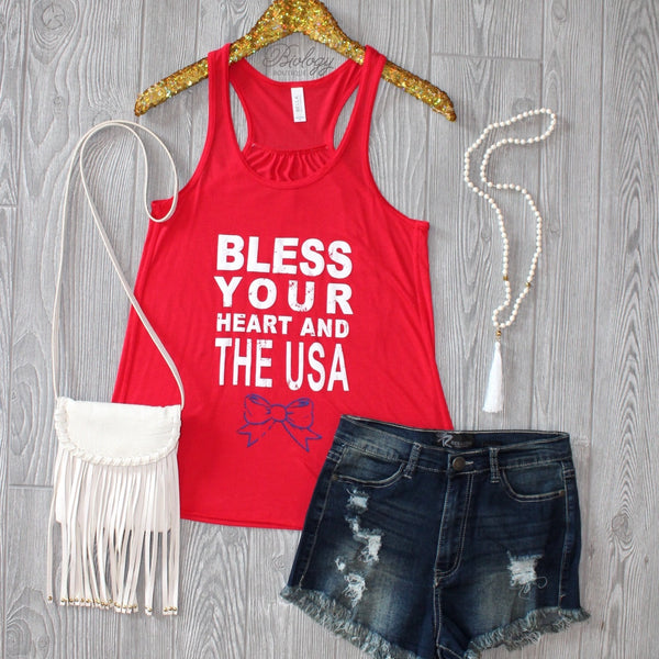 Bless Your Heart and the USA Tank - Biology Boutique