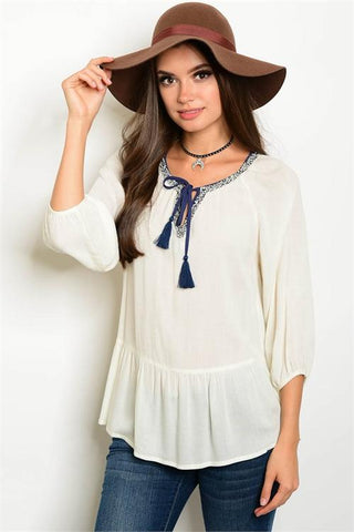 Boho Ivory Top - Biology Boutique