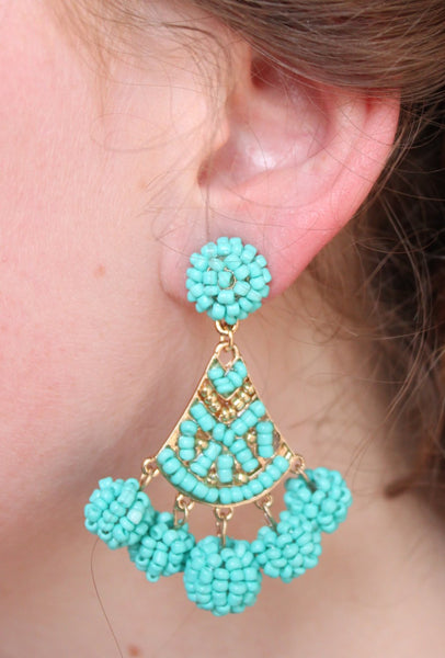 Carme Turquoise Drop Earrings - Biology Boutique