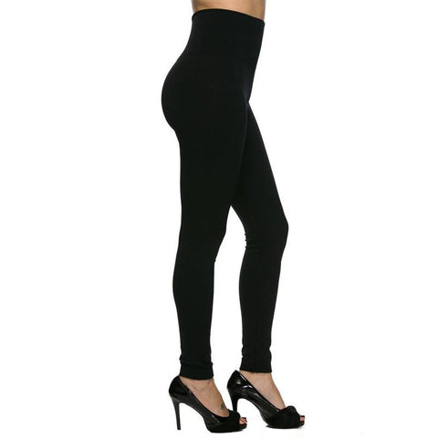Chic High Rise Black Leggings - Biology Boutique