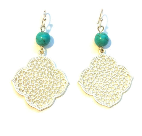 Christina Turquoise Earrings - Biology Boutique