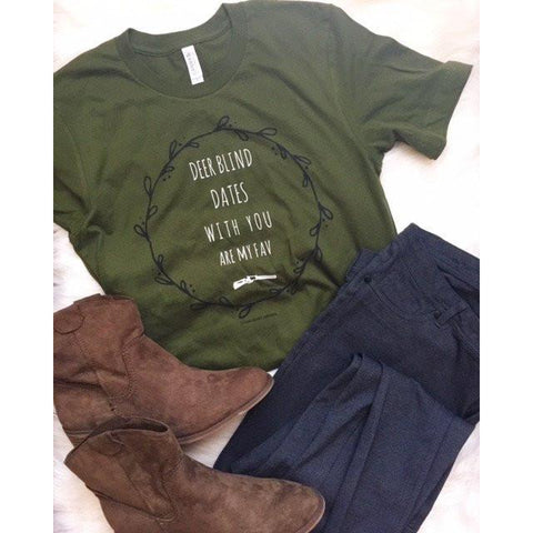 Deer Blind Dates Tee | Biology Boutique