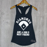 Diamonds Are A Girl's Best Friend Tank - Biology Boutique