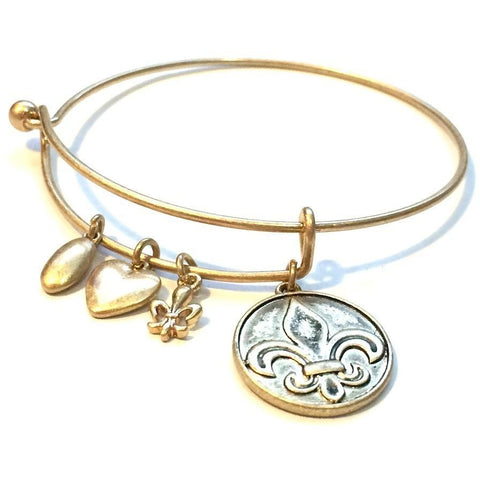 Fleur De Lis Bangle - Biology Boutique