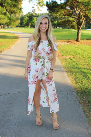 Floral Romper Maxi Dress - Biology Boutique