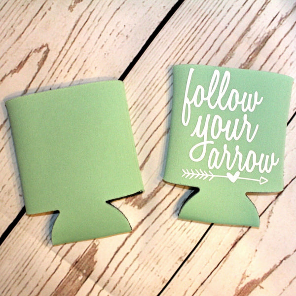 Follow Your Arrow Mint Koozie