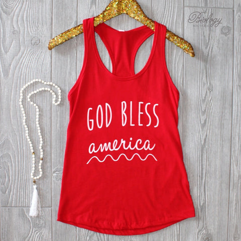 God Bless America Tank Top