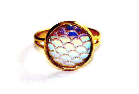Gold Mermaid Scales Ring - Biology Boutique