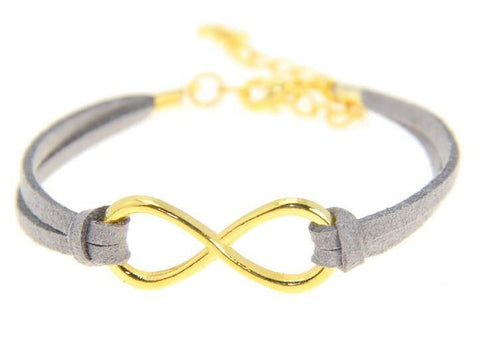 Gray Infinity Bracelet - Biology Boutique