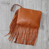 Clanton Fringed Clutch Bag - Biology Boutique