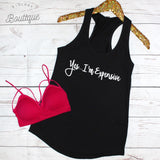 Yes I'm Expensive Tank Top - Biology Boutique