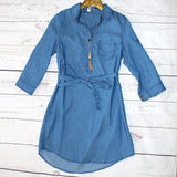 Chambray Button-Up Tunic