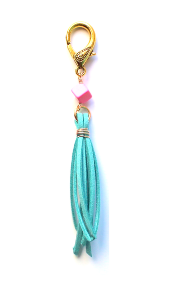 Judith Tassel Blue Keychain - Biology Boutique