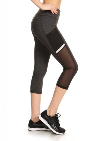 Charcoal Gray Capri Leggings - Biology Boutique