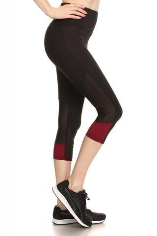 Burgundy Capri Leggings - Biology Boutique