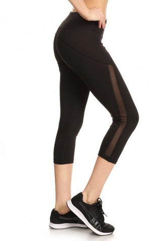Black High Waist Slimming Leggings - Biology Boutique