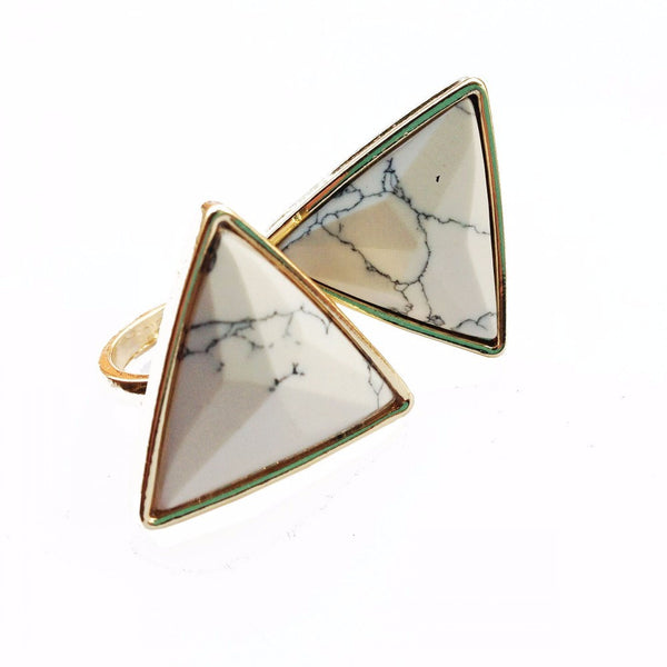 Leigha White Marble Ring - Biology Boutique
