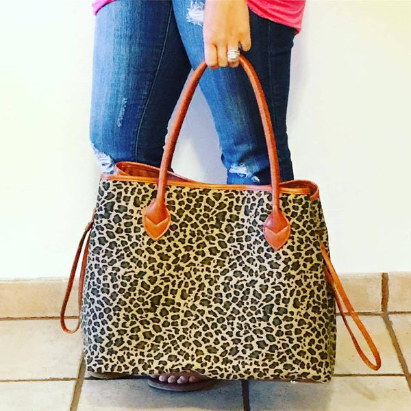 Leopard Tote - Biology Boutique