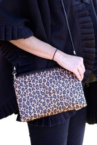 Lexi Leopard Pony Hair Feel Crossbody - Biology Boutique