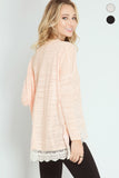 Light Peach Long Sleeve Top - Biology Boutique