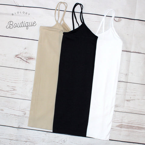 Long Cami Tank Top - Biology Boutique