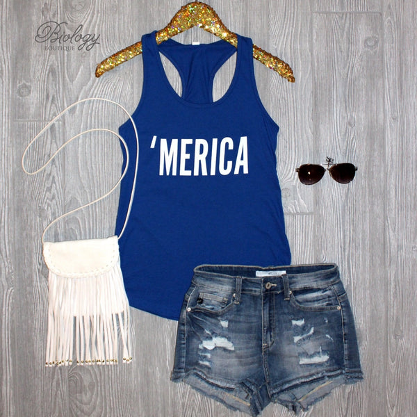 Merica Tank Top - Biology Boutique