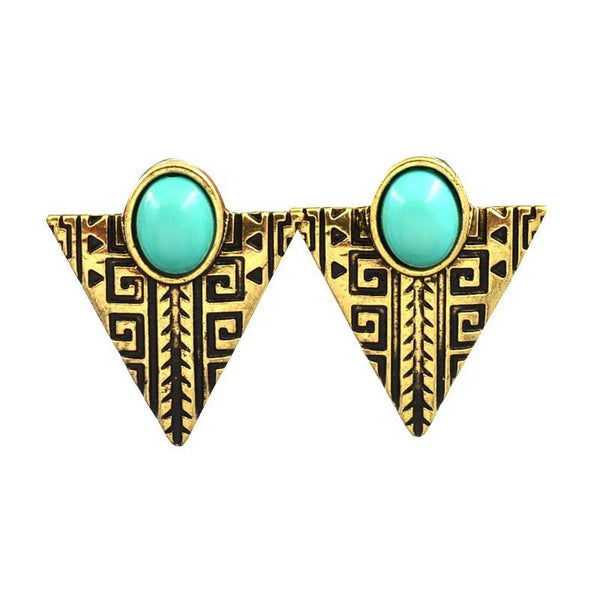 Mila Triangle Studs - Biology Boutique