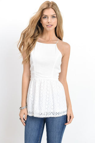 Peplum Crochet Top - Biology Boutique