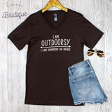 Outdoorsy V-Neck Tee - Biology Boutique