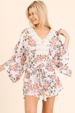 Park View Floral Romper - Biology Boutique