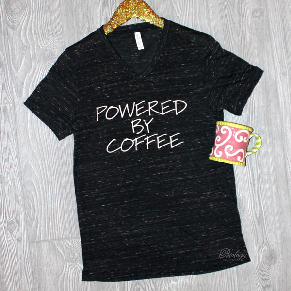 Powered by Coffee Tee - Biology Boutique