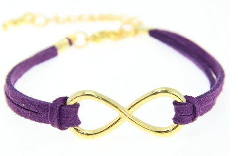 Purple Infinity Bracelet - Biology Boutique