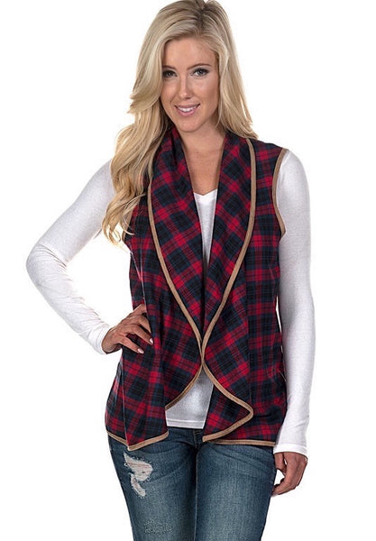 Spencer Plaid Vest