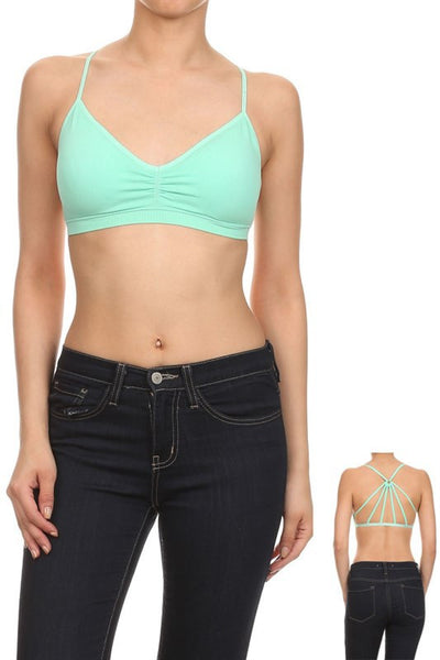 Mint Strappy Bralette - Biology Boutique