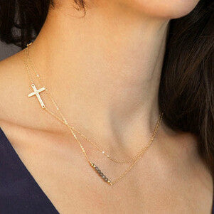 Samantha Layered Cross Necklace - Biology Boutique