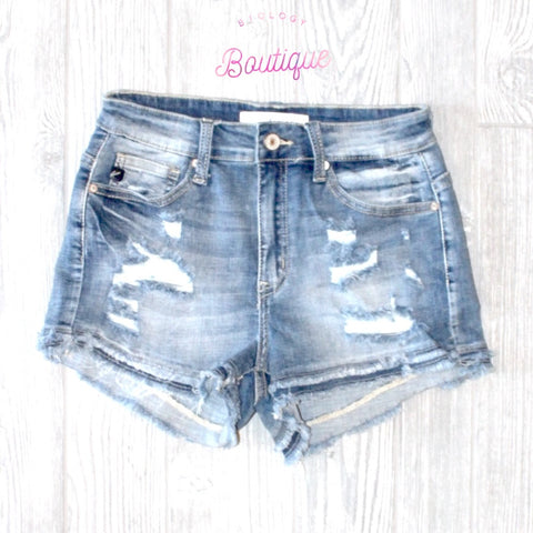 Kan Can Frayed Denim Shorts - Biology Boutique