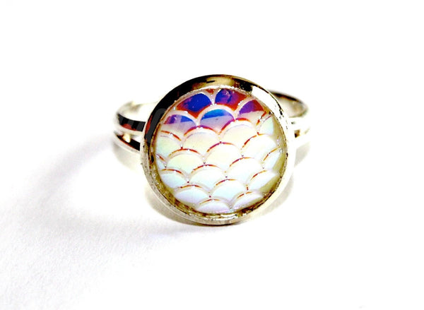 Silver Mermaid Scales Ring - Biology Boutique
