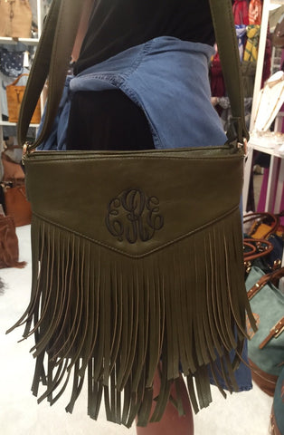 Fringe Crossbody in Olive - Biology Boutique
