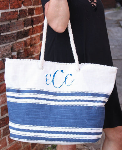 Essential Striped Tote - Biology Boutique