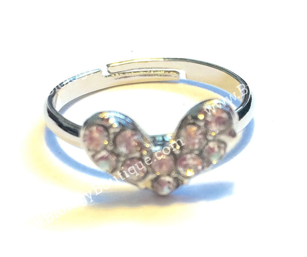 Studded Heart Ring - Biology Boutique