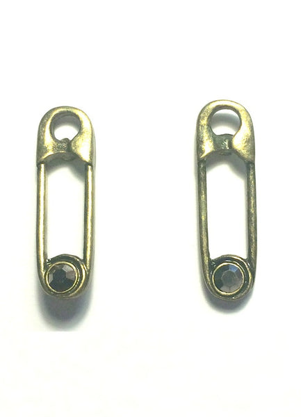 Vintage Safety Pin Stud Earrings - Biology Boutique