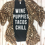 Wine Puppies Tacos Tee - Biology Boutique