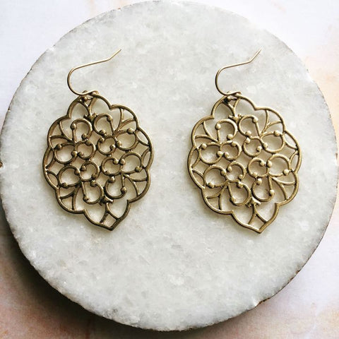 Abby Lace Dangle Earrings - Biology Boutique