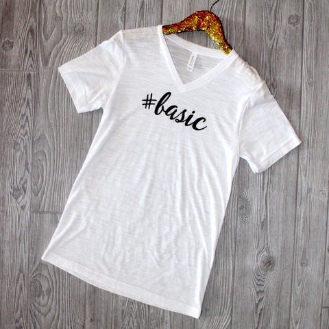 Basic V-Neck Graphic Tee - Biology Boutique