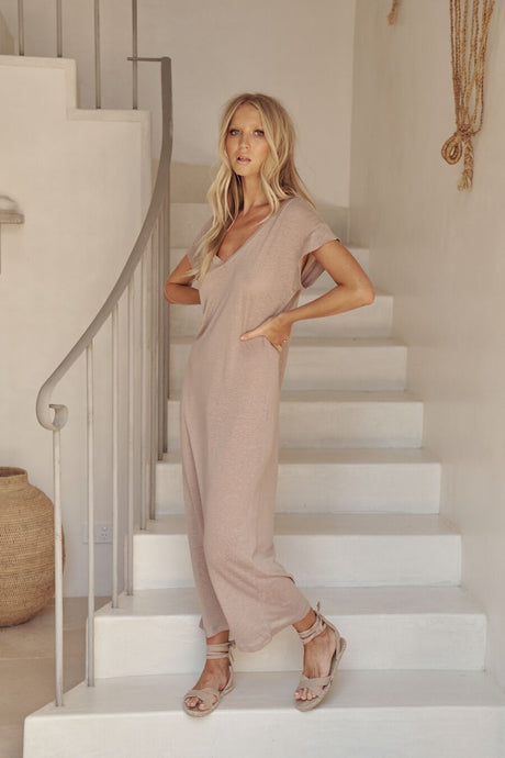 Avalon Vail Maxi Dress Oatmeal